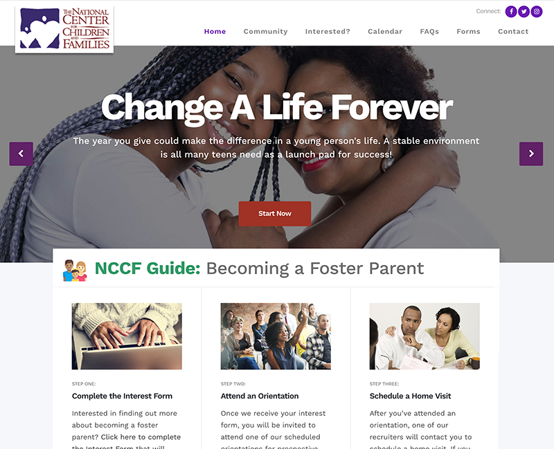 NCCF Foster Care Home Page