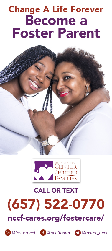 NCCF Foster Care Banner - English