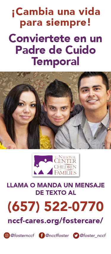 NCCF Foster Care Banner - Spanish